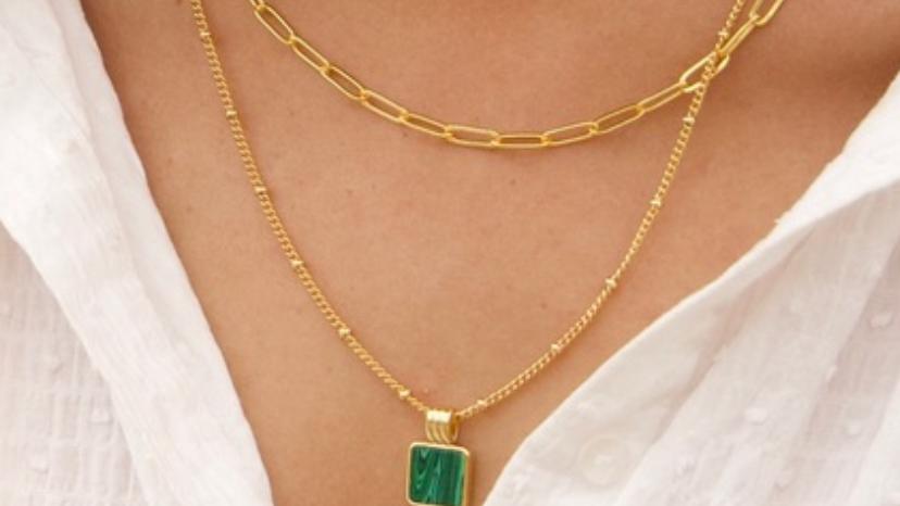 Collar verde Malaquita