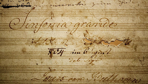 Cover of Manuscript of Symphony No. 3