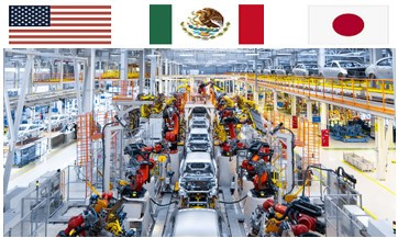 Temporally inventory service for Automotive parts coming from Mexico, Japan & Asia to USA.