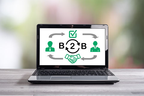 Image of B2B e-commerce with laptop computer