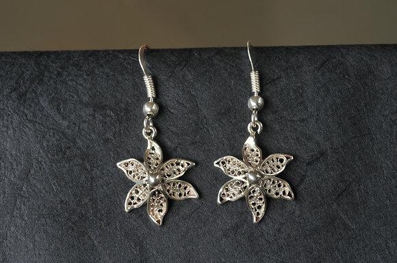 Boucle d'oreille Fleur d'Ylang