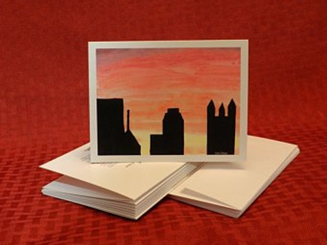 Pittsburgh Sunset Note Cards