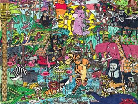 Jungle Collage Print