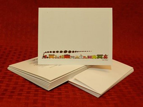 Circus Train Note Cards