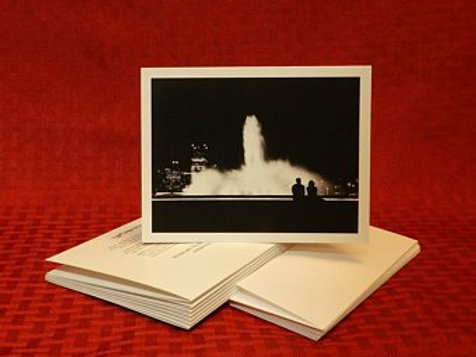 Point State Park Fountain Note Cards