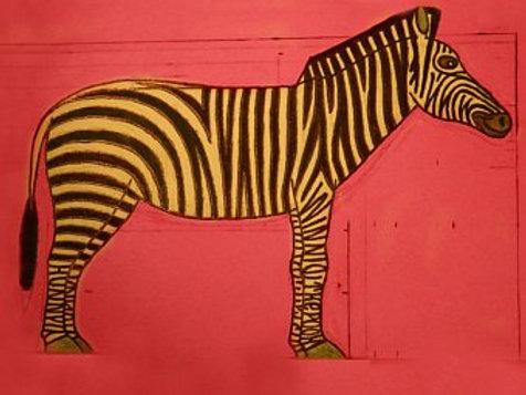 Winnie the Pooh Zebra Print