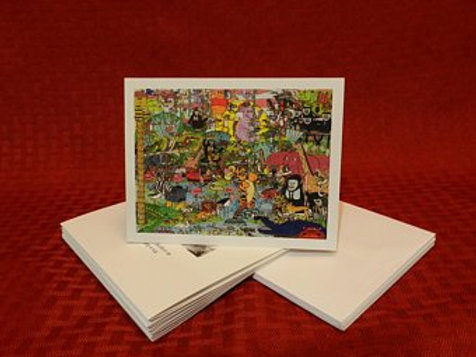 Jungle Collage Note Cards