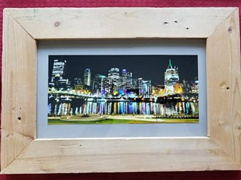 Framed North Shore Pittsburgh Skyline View
