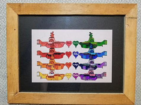 Framed Rainbow Submarines Print