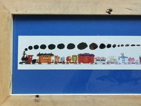 Framed Circus Train Print