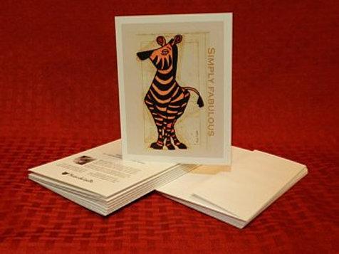 Fabulous Zebra Note Cards