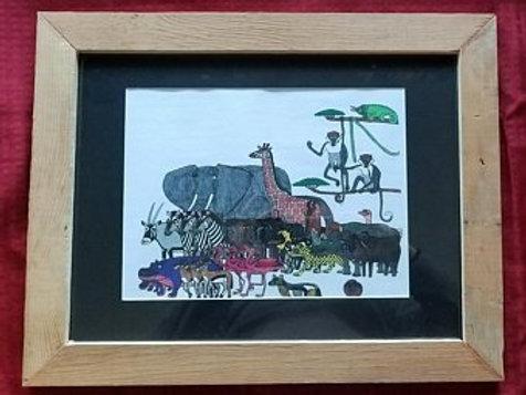 Framed Jungle Animals Print