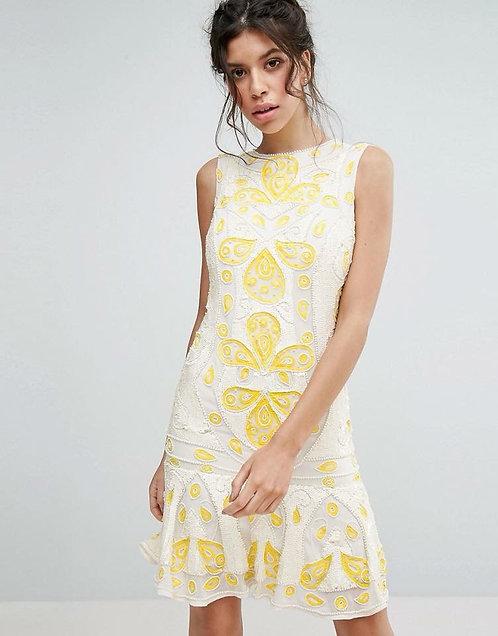 Rochie cu paiete și mărgele