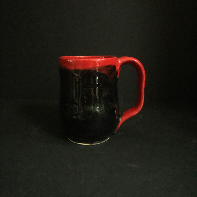 MUG RED /BLACK