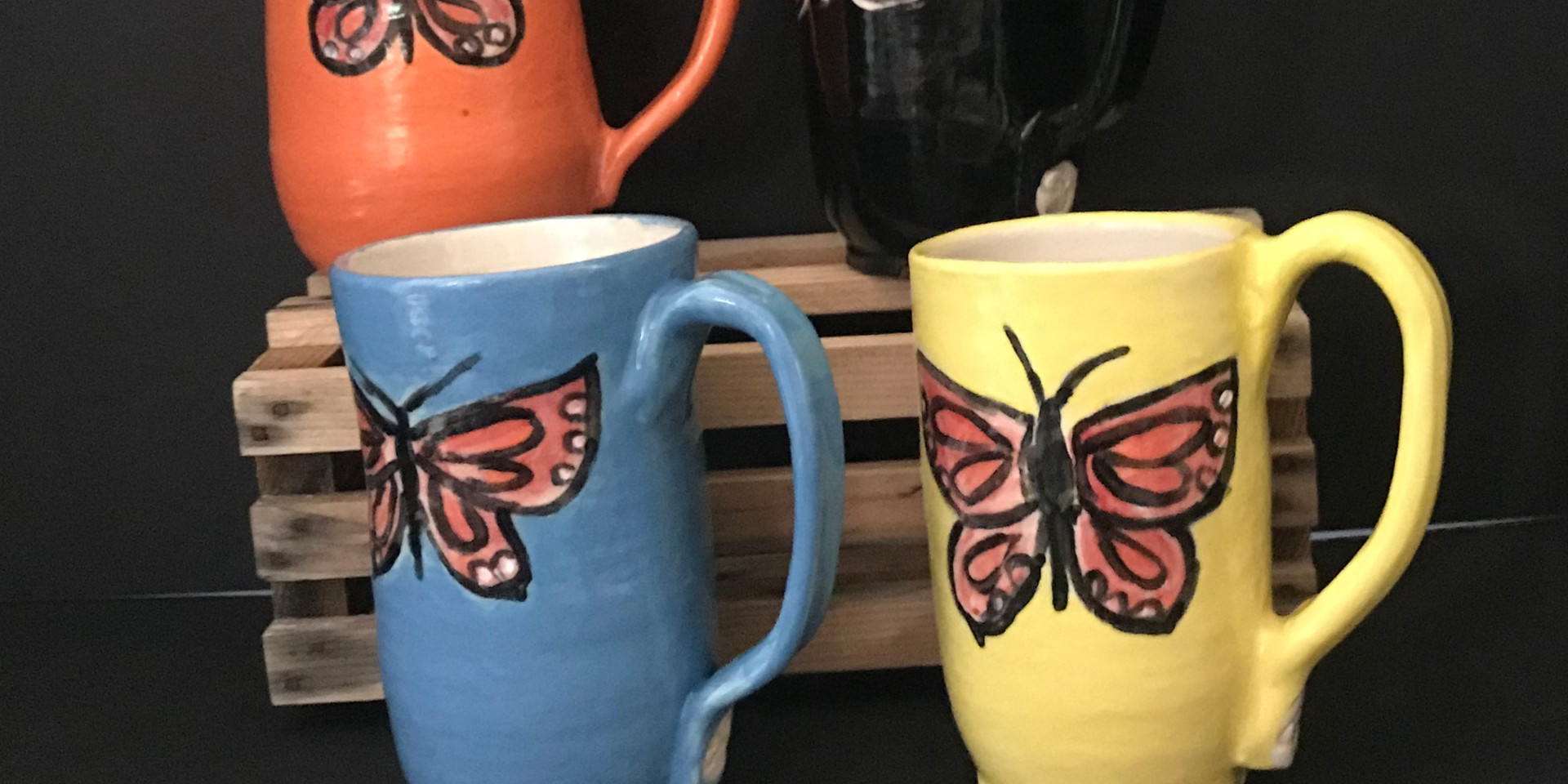 Butterfly Mugs, Commission 2018
