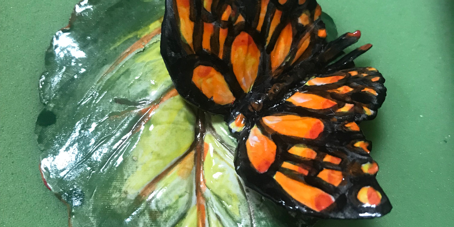 Butterfly on Leaf, 2018