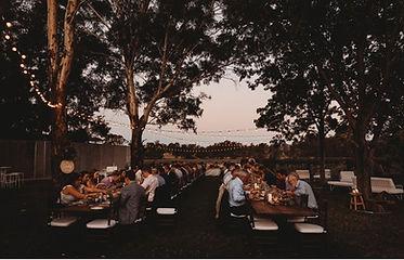 Outdoor reception at The Wild Vine, Wagga Wagga