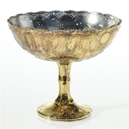 Gold pedestal vase