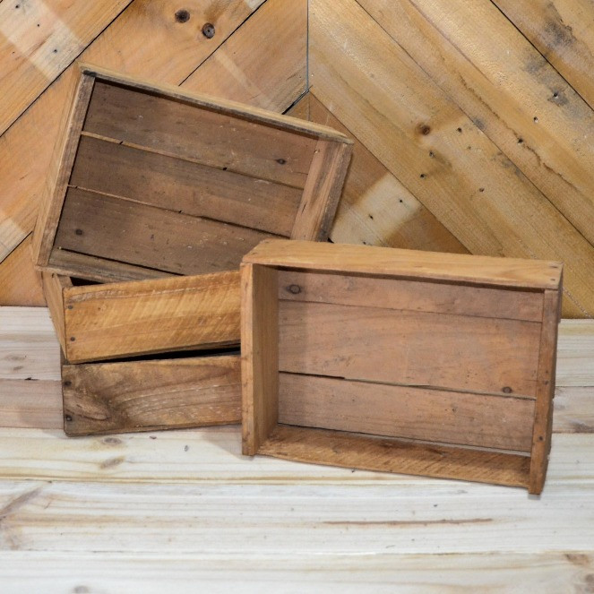 Assorted timber crates