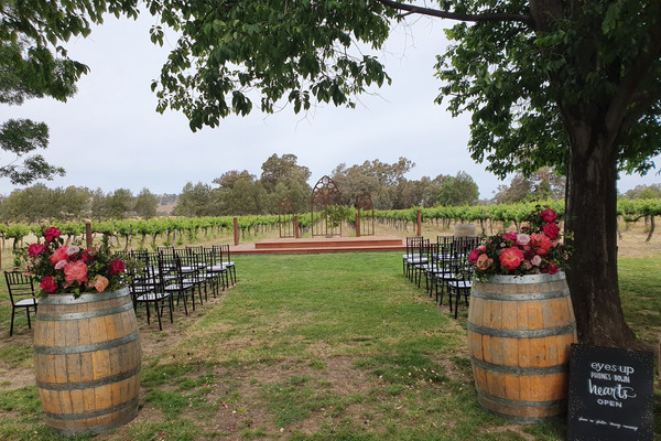 Church windows & wine barrels