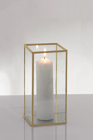 Gold square candle holder