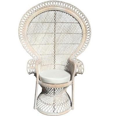 Peacock chair white wash