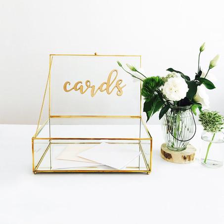 Gold card box