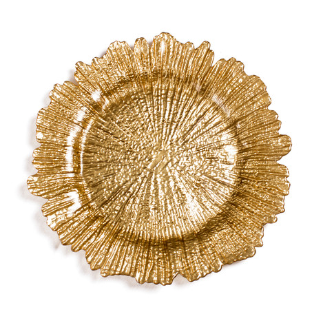 Gold fleur charger plates