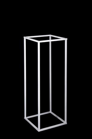 White frame plinths