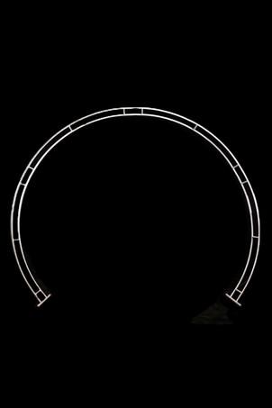 White round arbour