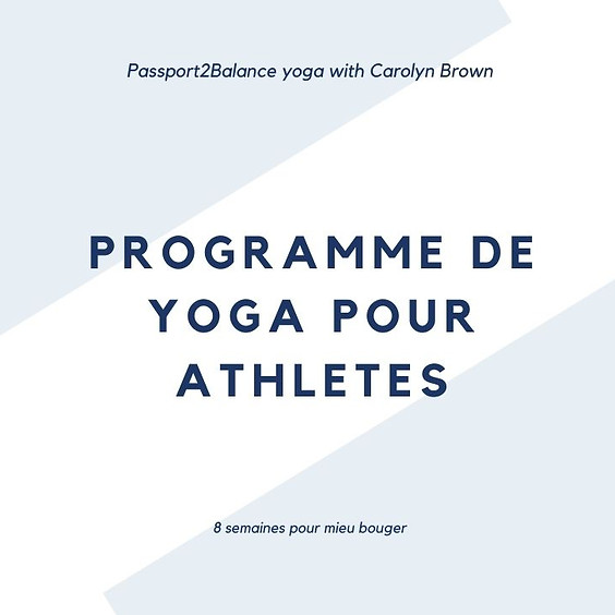 Programme yoga pour athletes