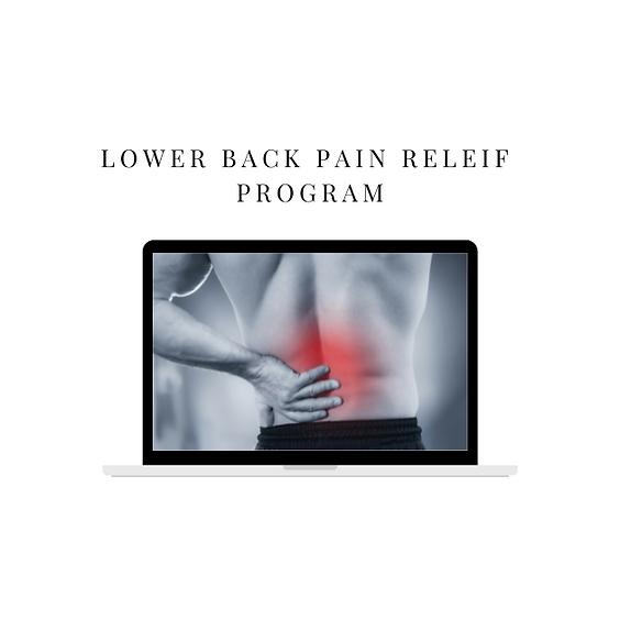 Programme de soulagement des douleurs du bas du dos