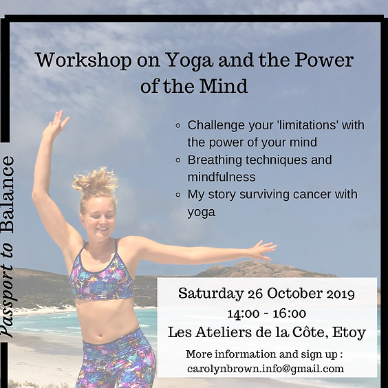 Workshop on Yoga and the Power of the Mind