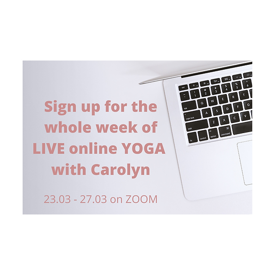 1 Week of LIVE ONLINE yoga with Carolyn