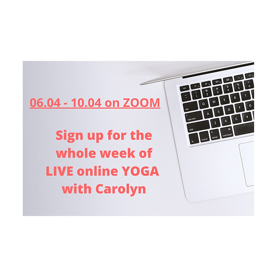 06.04 - 10.04 LIVE ONLINE yoga with Carolyn