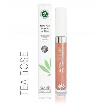 PHB 100% Pure Organic Lip Gloss - Tea Rose