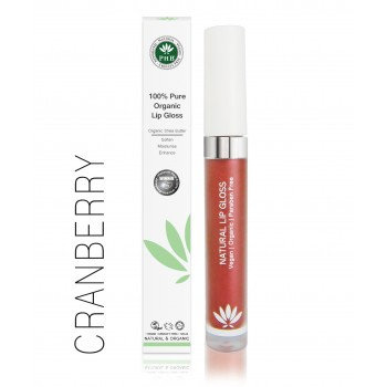 PHB 100% Pure Organic Lip Gloss - Cranberry