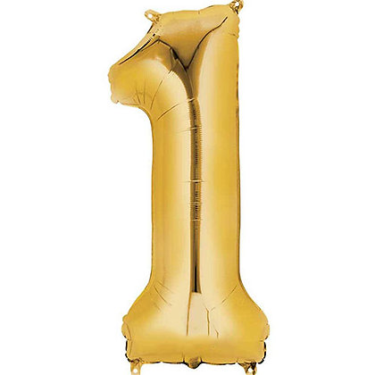 Gold Balloons 34in Tall
