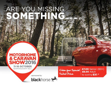 Motorhome & Caravan Show 2016 – advance ticket offer – buy now and save!