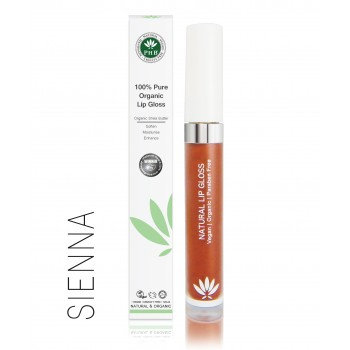 PHB 100% Pure Organic Lip Gloss - Sienna