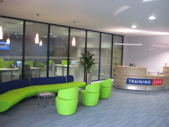 New reception area at Training 2000 Nelson