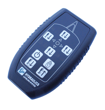 Wireless remote for your caravan levelling system.