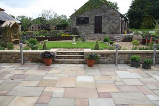 New Patio area and garden in Balderstone
