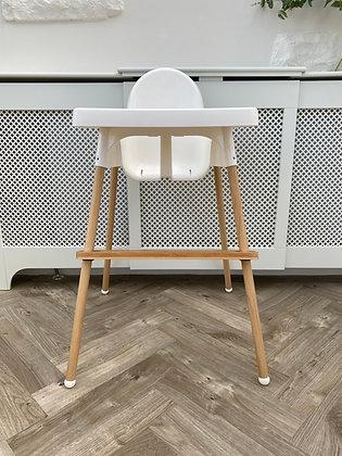 Bamboo leg wraps Ikea highchair