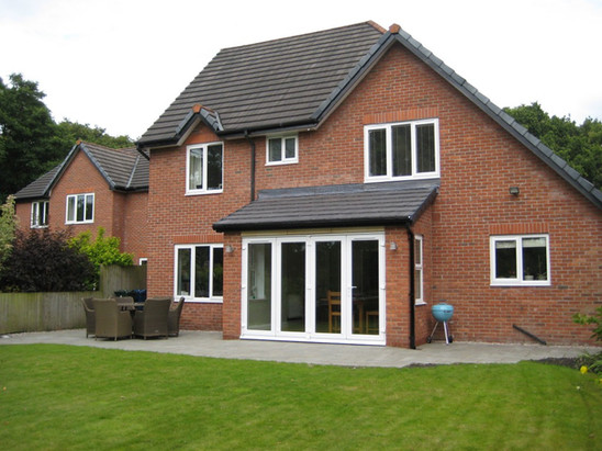 Rear sunroom extension at Calderstones