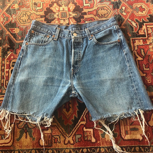 Levi's Mid Length Cut Off Shorts - Size 30