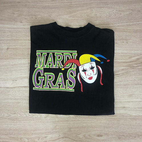 Mardi Gras Graphic Tee - Black - L