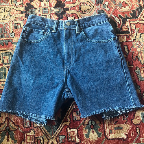 Levi's Mid Length Cut Off Denim Shorts - Size 26