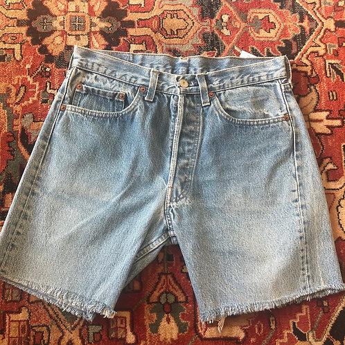 Levi's Mid Length Cut Off Denim Shorts - Size 29
