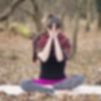 Prayer Hands - Nayana yoga Purple - SMAL